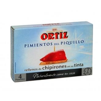 PIMIENTOS DEL PIQUILLO RELLENOS DE CHIPIRONES ORTIZ